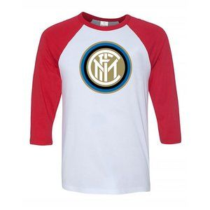 Men's Inter Milan Soccer Logo Baseball Tee